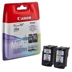 Originální inkoust Canon PG-510 + CL-511 (2970B010), černý 9 ml + barevný 9 ml