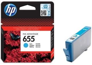 Originální inkoust HP 655 (CZ110AE) azurový
