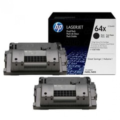 Originální tonery HP CC364XD (64X), dvojbalení