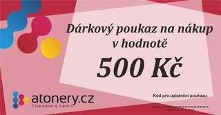 Dárkový poukaz na 500 Kč