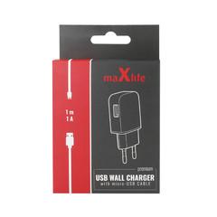 Nabíječka MaxLife Premium + Micro USB 1m, 1000 mA